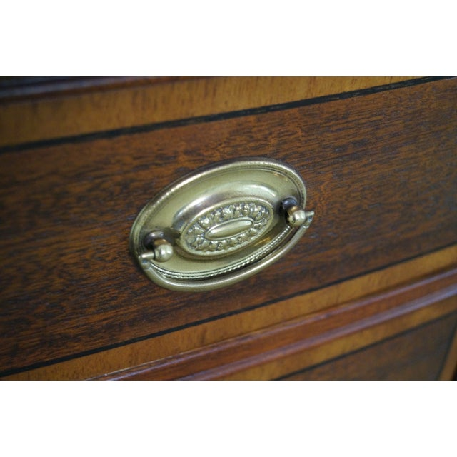 Baker Mahogany Bow Front Banded Bachelors Chest - Image 9 of 10