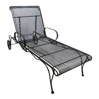 Contemporary Woodard Briarwood Wrought Iron Patio Chaise Lounge