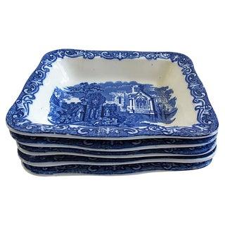 Antique George Jones Shredded Wheat / Cereal Bowls - Set of 5