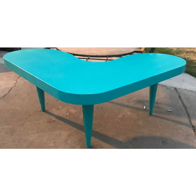 Mid-Century Modern Vintage Boomerang Table For Sale - Image 3 of 5