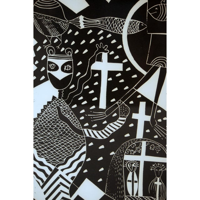 """Abstract """"Sanctuary"""" Artist Proof Linocut Print by Susie Ketchum For Sale - Image 3 of 9"""