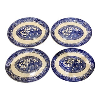 Vintage Chinoiserie Style Plates - Set of 4 For Sale