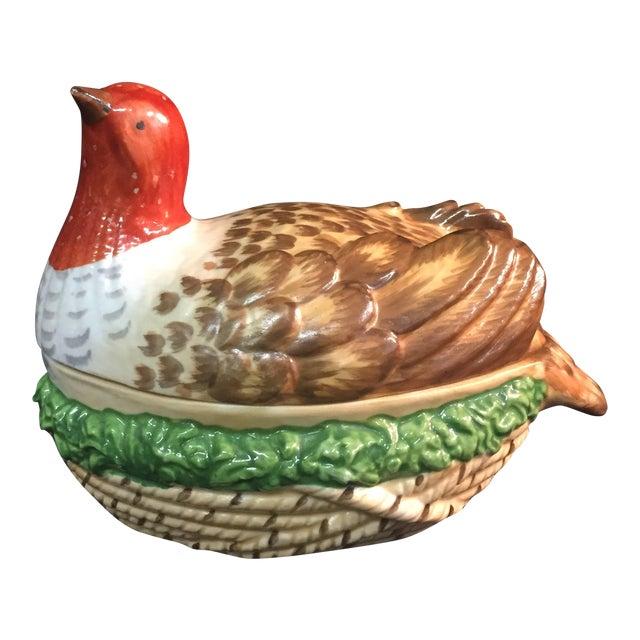 Sir Humphrey Wakefield Bird & Nest Lidded Serving Dish For Sale