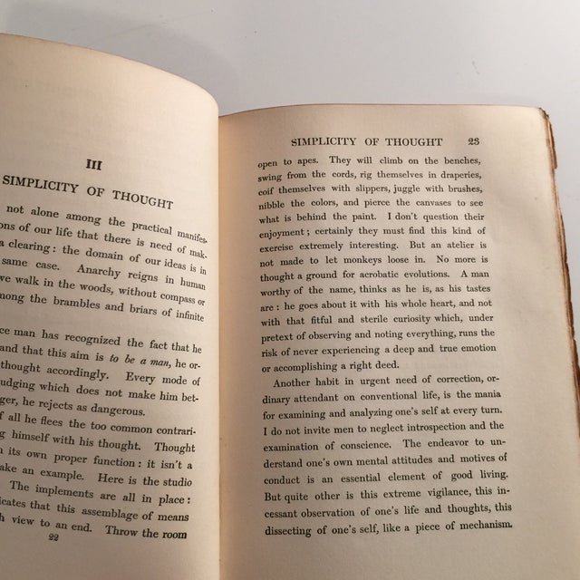 The Simple Life Charles Wagner Hardcover 1904 For Sale In New York - Image 6 of 8