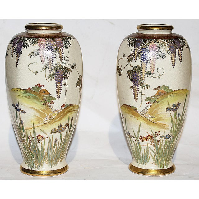 Japanese Vases - A Pair - Image 2 of 7