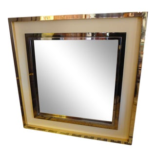 A large Square belgo chrome Mirror