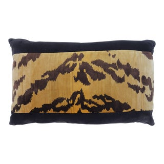 Velvet Tiger Stripe Pillow For Sale
