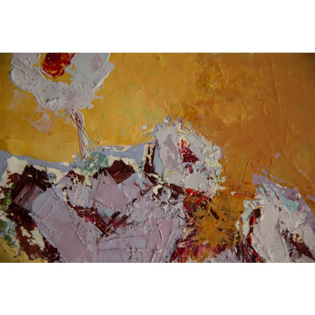 """2020s Bill Tansey """"Brown Vase"""" Abstract Floral Oil on Canvas Painting For Sale - Image 5 of 5"""