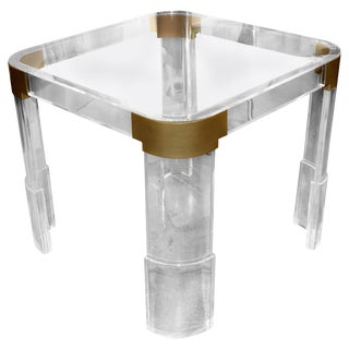Charles Hollis Jones Lucite Game Table For Sale
