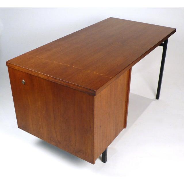 Metal Three Drawer Danish Desk For Sale - Image 7 of 10
