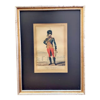Early 19th Century French Hand Colored Framed Fashion Print For Sale