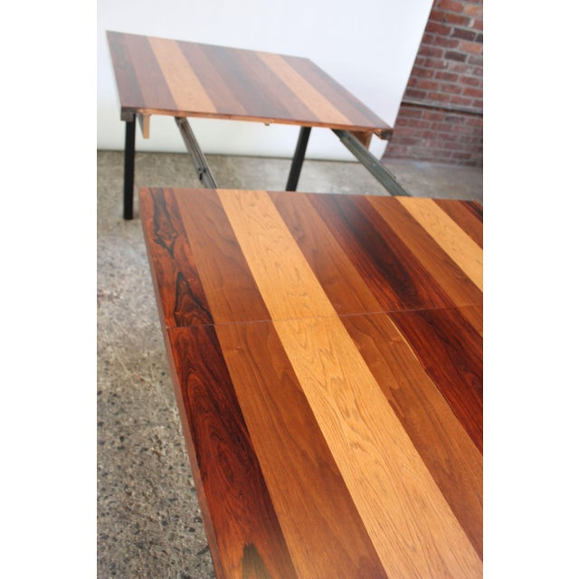 Directional Mixed-Wood Dining Table by Milo Baughman - Image 6 of 13