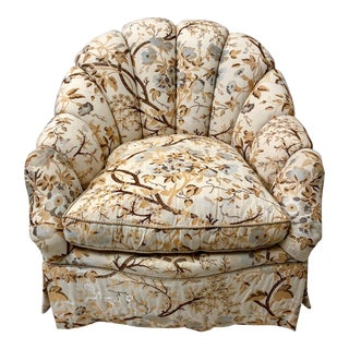 Brunschwig & Fils Channel Backed Club Chair For Sale