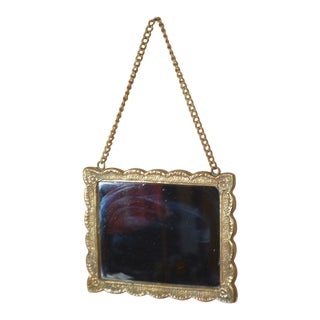 Cast Solid Brass Hanging Wall Mirror
