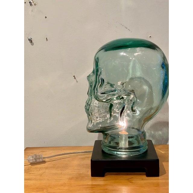 Modern Glass Skull Lamp For Sale - Image 4 of 12