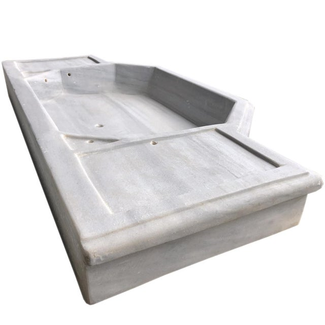 Antique Art Deco Turkish Marble Sink For Sale - Image 6 of 9