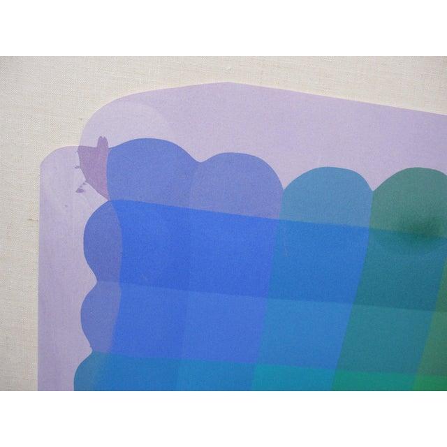 1980s Stanley Migas Op-Art Monotype Screenprint For Sale - Image 4 of 5