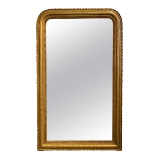 19th Century French Louis Philippe Gold Gilt Mirror For Sale