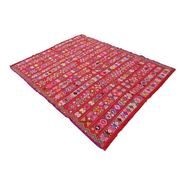 Modern Colorful Area Rug - 5′6″ × 6′12″ - Image 1 of 9
