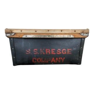 Early 20th Century Industrial s.s. Kresge Fiberboard Department Store Storage Bin For Sale