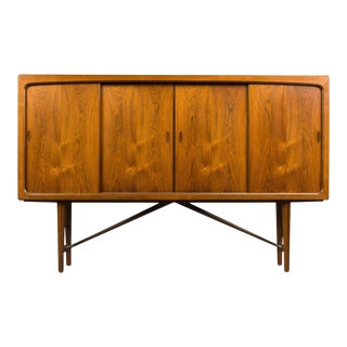 Danish Rosewood Midcentury High Sideboard, 1960s For Sale