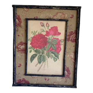 Rustic Cottage Rose Wood Wall Decor For Sale