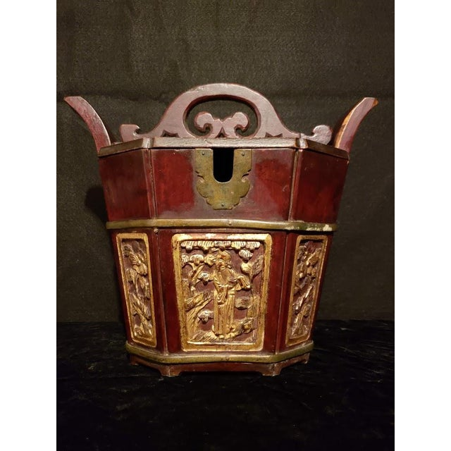 Antique Shanxi Tea Caddy and Locking Lid For Sale - Image 10 of 10