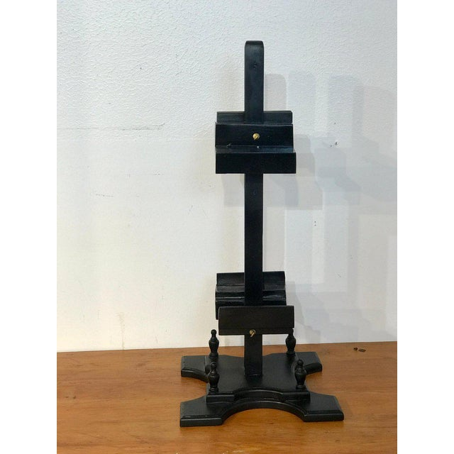 Regency Style Ebonized Dual Sided Table Easel For Sale - Image 10 of 11