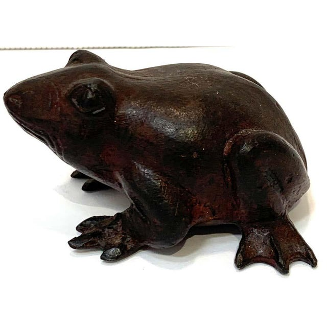Chinese Bronze Frog Sculpture For Sale - Image 4 of 9