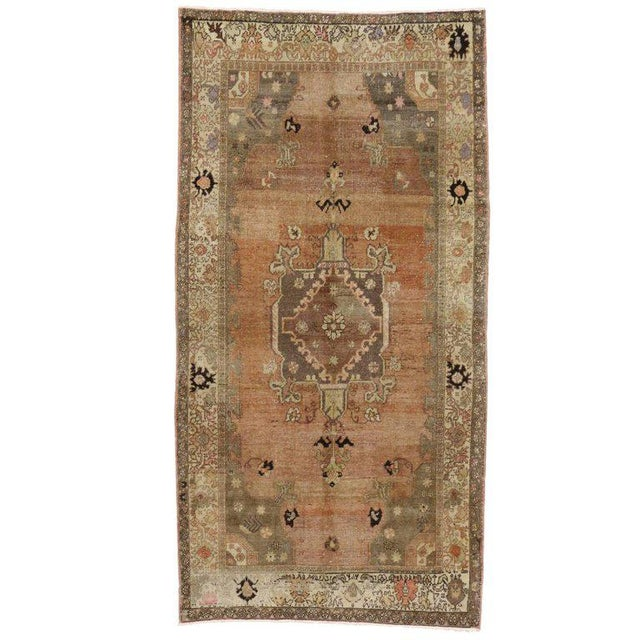 Vintage Turkish Sivas Rug with Modern Industrial Style For Sale - Image 9 of 9