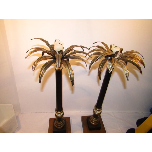 Vintage Palm Tree Candlesticks - A Pair - Image 3 of 6