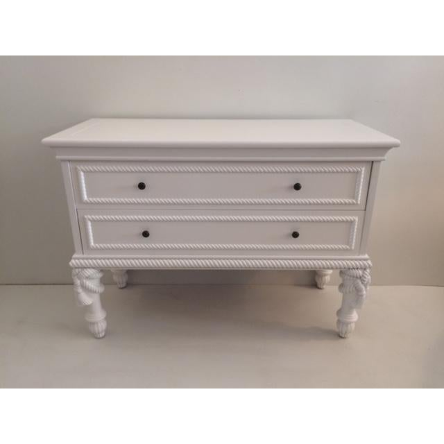 1960s Hollywood Regency White Commode With Tassel Legs For Sale - Image 13 of 13