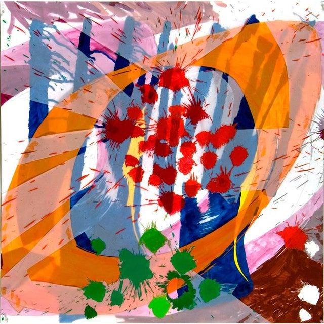 "Abstract Ellen Priest ""Jazz: Edward Simon's Venezuelan Suite 16"", Painting For Sale - Image 3 of 4"