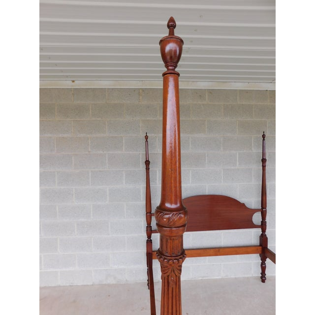 Chippendale Suters Chippendale Style Mahogany Tester Frame Full Size Poster Bed For Sale - Image 3 of 13