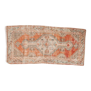 "Vintage Distressed Oushak Rug Runner - 2'6"" x 5'3"" For Sale"