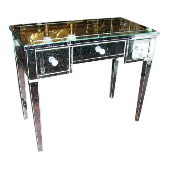 Custom Mirrored Desk For Sale