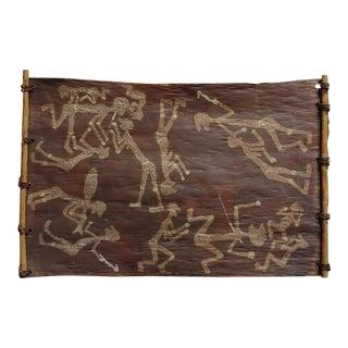 Dick Nguleingulei Murramurra-Fighting W/Spears-Original 1968 Aboriginal Painting For Sale