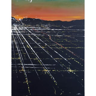 "Pete Kasprzak ""Lankershim Sunset Aerial"" Original Painting For Sale"