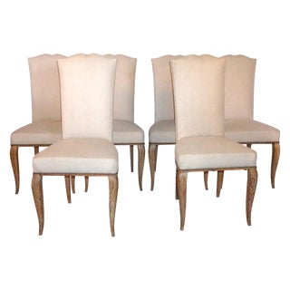 20th Century French Oak Dining Chairs - Set of 6 For Sale
