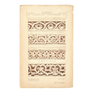 Antique 19th-Century French Architectural and Illustration Designs For Sale