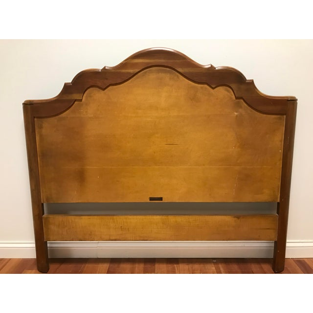 Wood John Widdicomb Maker of Fine Furniture Full Double Bedframe For Sale - Image 7 of 13