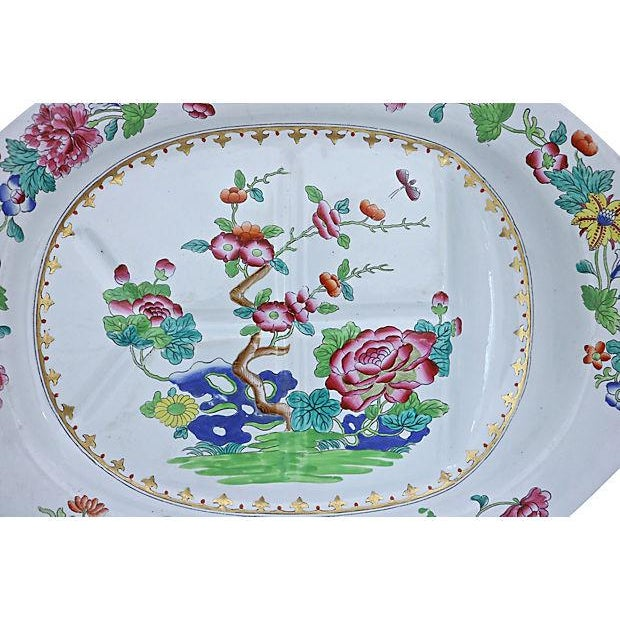 Country Spode Indian Tree Meat Draining Platter For Sale - Image 3 of 7