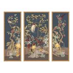 Forest & Pheasants by Allison Cosmos, Set of 3, in Gold Framed Paper, Medium Art Print