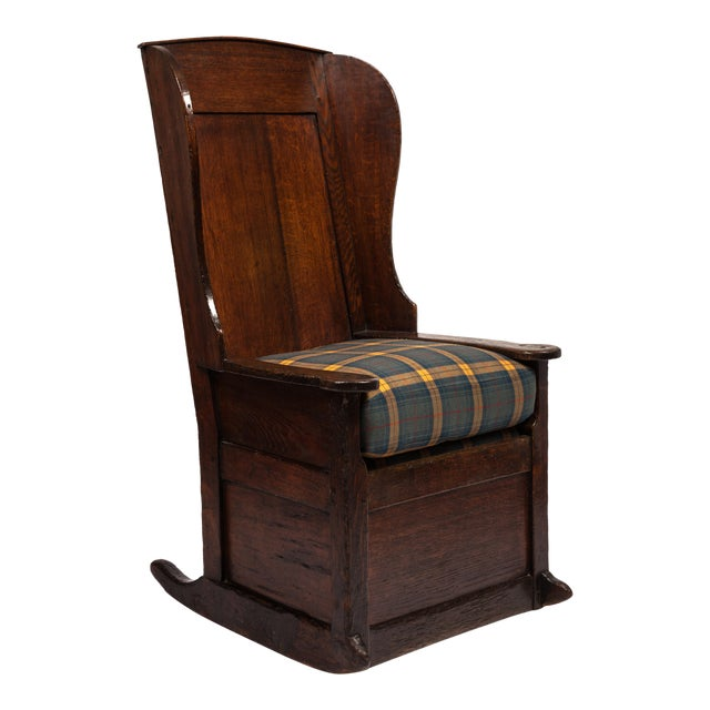 18th-Century English Planked Rocker For Sale