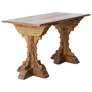 19th Century French Gothic Revival Period Library Table For Sale