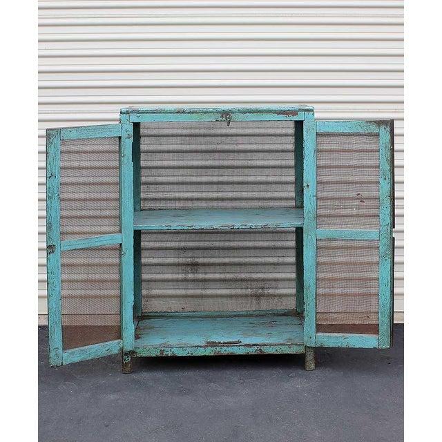 Teal Vintage Baker's Cabinet II - Image 2 of 5