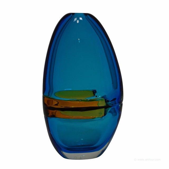 Alfredo Barbini Large Vase 'Doppio Incalmo', Venice Ca. 1965 For Sale - Image 9 of 9