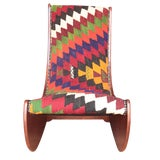 Image of Boho Chic Wood Folding Rocking Chair For Sale