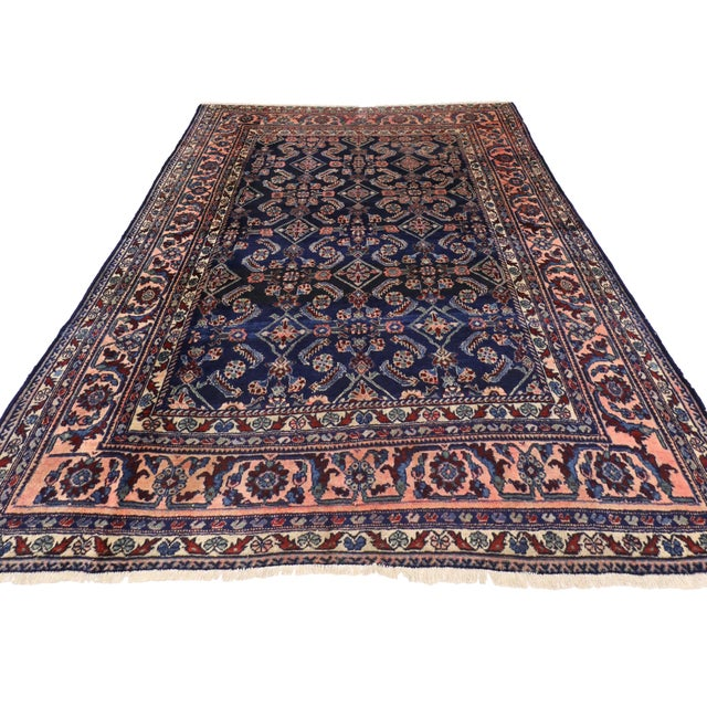 Antique Persian Traditional Modern Style Lilihan Rug - 3′10″ × 5′6″ - Image 3 of 6