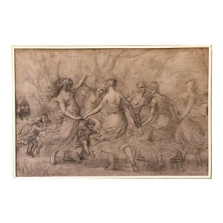 Pierre Picot Signed Pencil Drawing For Sale